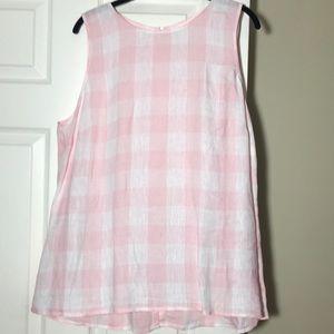 NWOT J Jill linen sleeveless tunic. Size L